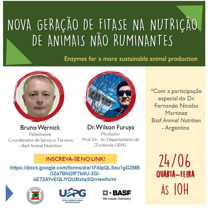 """Palestra """"Nova geração de fitase na nutrição de animais não ruminantes"""""""