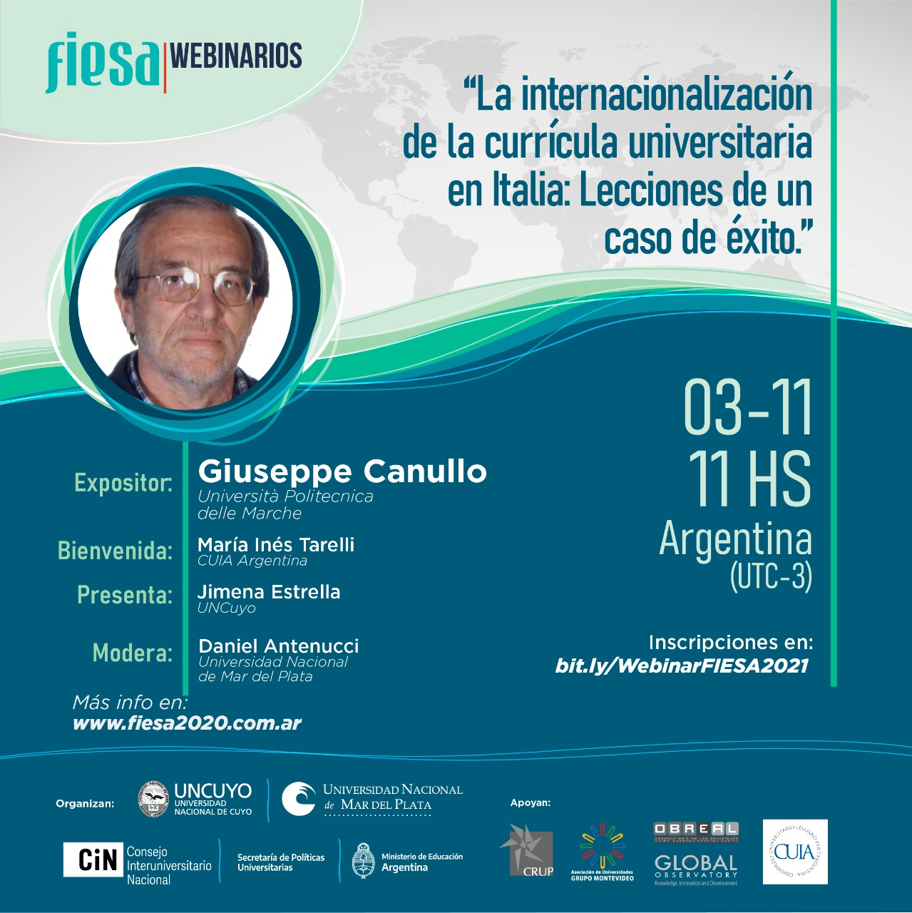 "Fiesa promotes webinar about ""Curriculum Internationalization in Italy: Lessons from a success story"""