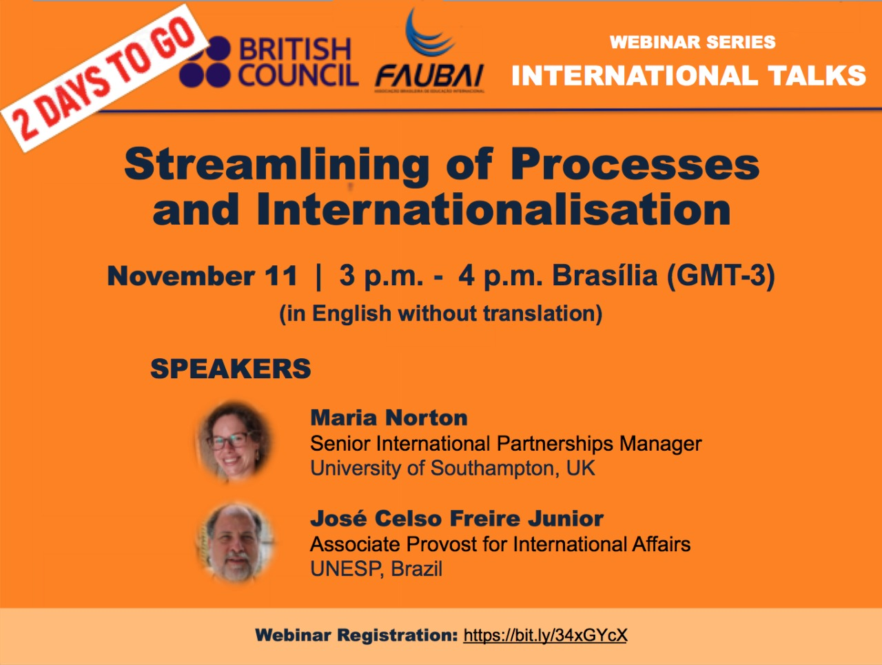 FAUBAI and British Council promote Webinar series about internationalization