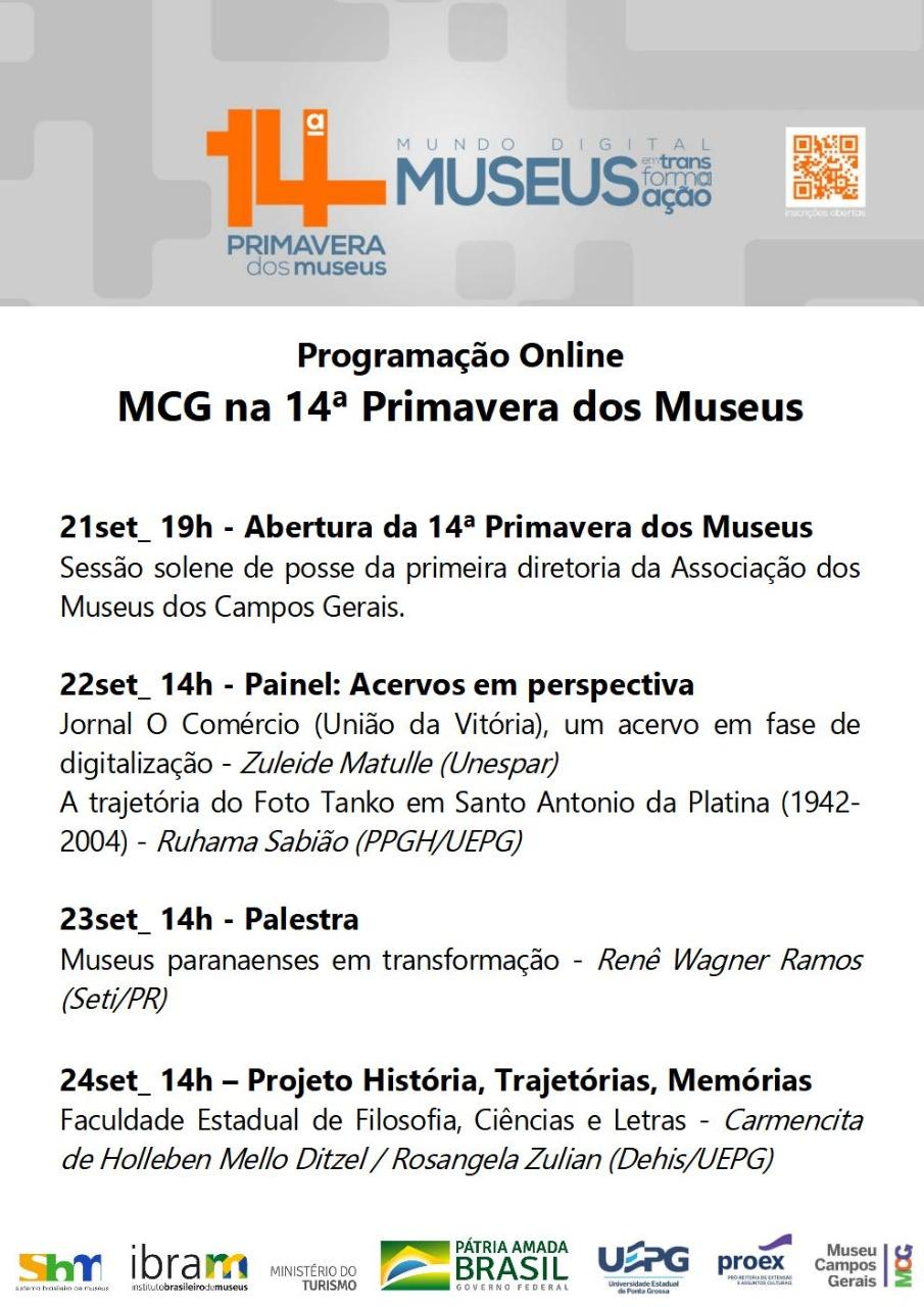 Inscrição na Primavera dos Museus vai até 20 de setembro