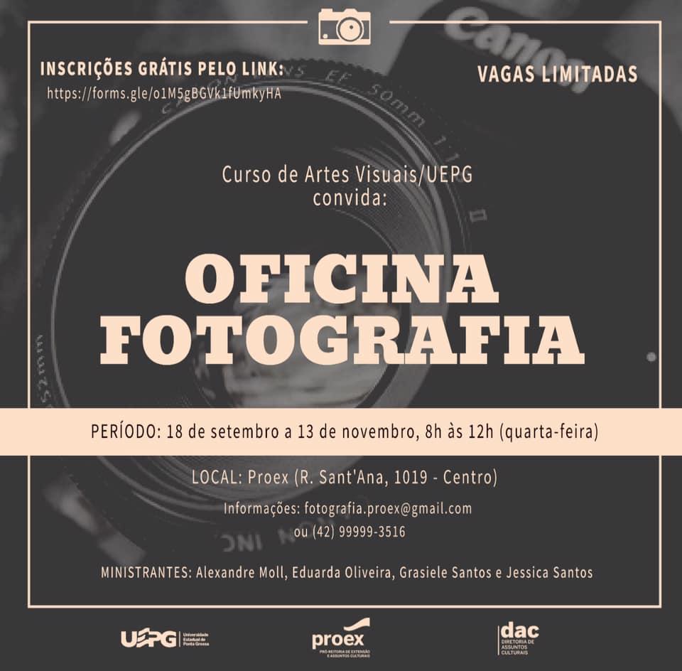 Estudantes de Artes Visuais oferecem Oficina de Fotografia à comunidade