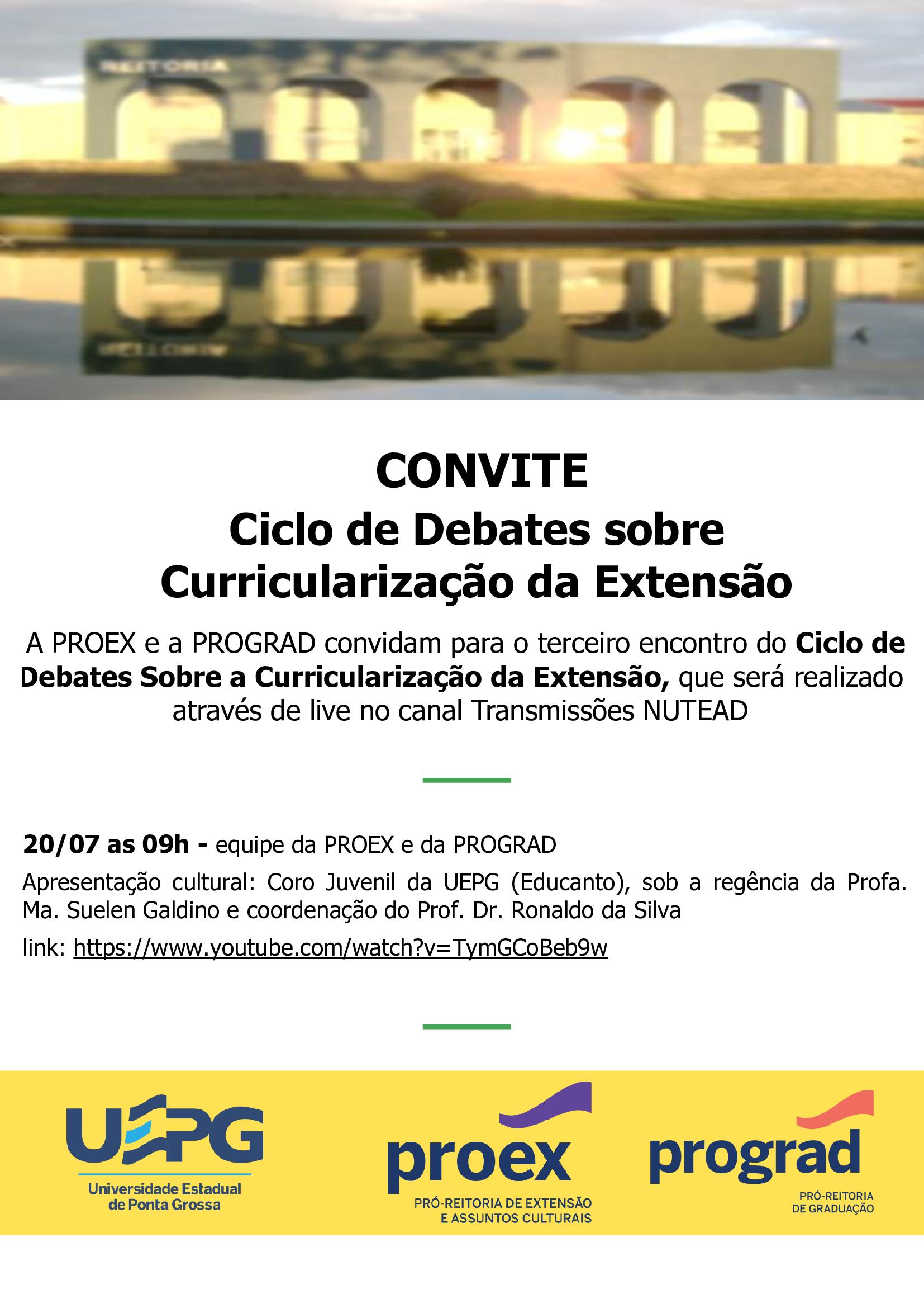 Terceiro Encontro do Ciclo de Debates Sobre a Curricularização da Extensão